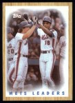 1987 Topps #331  Mets Leaders / Carter / Straw  -  Darryl Strawberry / Gary Carter Front Thumbnail