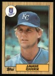 1987 Topps #354   Jamie Quirk Front Thumbnail