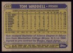 1987 Topps #657   Tom Waddell Back Thumbnail