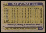 1987 Topps #155  Eddie Whitson  Back Thumbnail