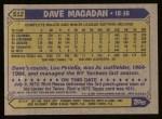 1987 Topps #512  Dave Magadan  Back Thumbnail