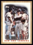 1987 Topps #306   -  Tom Seaver Red Sox Leaders / Seaver Front Thumbnail