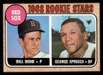 1968 Topps #314  Red Sox Rookies  -  Bill Rohr / George Spriggs Front Thumbnail