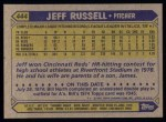 1987 Topps #444  Jeff Russell  Back Thumbnail