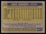 1987 Topps #203  Mike Kingery  Back Thumbnail