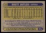 1987 Topps #723   Brett Butler Back Thumbnail