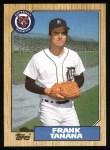 1987 Topps #726   Frank Tanana Front Thumbnail