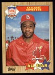 1987 Topps #598  All-Star  -  Ozzie Smith Front Thumbnail