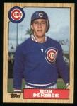 1987 Topps #715   Bob Dernier Front Thumbnail