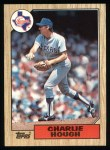 1987 Topps #70   Charlie Hough Front Thumbnail