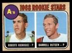 1968 Topps #199  A's Rookies  -  Roberto Rodriquez / Darrell Osteen Front Thumbnail