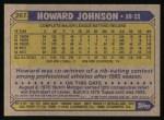 1987 Topps #267   Howard Johnson Back Thumbnail