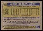 1987 Topps #622   Glenn Braggs Back Thumbnail
