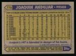1987 Topps #775   Joaquin Andujar Back Thumbnail