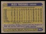 1987 Topps #173  Alex Trevino  Back Thumbnail