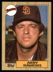 1987 Topps #183  Andy Hawkins  Front Thumbnail
