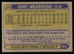1987 Topps #228   Curt Wilkerson Back Thumbnail