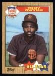 1987 Topps #599   -  Tony Gwynn All-Star Front Thumbnail