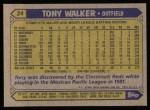 1987 Topps #24   Tony Walker Back Thumbnail
