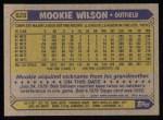 1987 Topps #625  Mookie Wilson  Back Thumbnail
