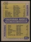 1987 Topps #556   Angels Team Back Thumbnail