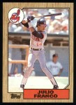 1987 Topps #160   Julio Franco Front Thumbnail