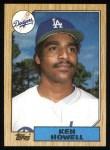 1987 Topps #477  Ken Howell  Front Thumbnail