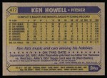 1987 Topps #477  Ken Howell  Back Thumbnail