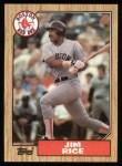 1987 Topps #480   Jim Rice Front Thumbnail