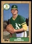 1987 Topps #391   Jay Howell Front Thumbnail