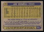 1987 Topps #391   Jay Howell Back Thumbnail