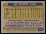 1987 Topps #391   Jay Howell Back Thumbnail