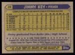 1987 Topps #29   Jimmy Key Back Thumbnail