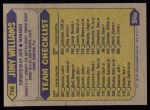 1987 Topps #786  Jimy Williams  Back Thumbnail