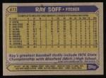 1987 Topps #671    Ray Soff Back Thumbnail