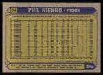1987 Topps #694  Phil Niekro  Back Thumbnail