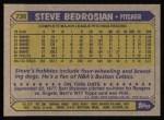 1987 Topps #736   Steve Bedrosian Back Thumbnail