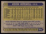 1987 Topps #653  Kevin Mitchell  Back Thumbnail