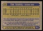 1987 Topps #158   Tim Teufel Back Thumbnail