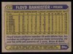 1987 Topps #737  Floyd Bannister  Back Thumbnail