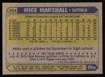 1987 Topps #664   Mike Marshall Back Thumbnail