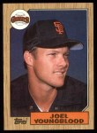 1987 Topps #759   Joel Youngblood Front Thumbnail