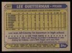 1987 Topps #307  Lee Guetterman  Back Thumbnail