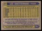 1987 Topps #307  Lee Guetterman  Back Thumbnail