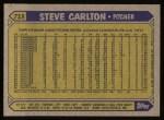 1987 Topps #718  Steve Carlton  Back Thumbnail