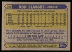 1987 Topps #308  Don Slaught  Back Thumbnail