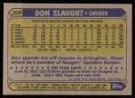 1987 Topps #308  Don Slaught  Back Thumbnail