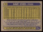 1987 Topps #90   Dave Stieb Back Thumbnail