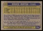 1987 Topps #499   Bruce Ruffin Back Thumbnail
