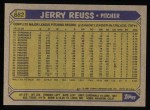 1987 Topps #682   Jerry Reuss Back Thumbnail